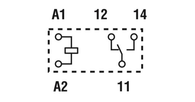 Relè Finder schema di collegamento