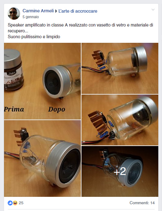 speaker vasetto vetro