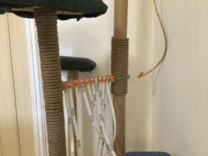 tiragraffi fai da te in legno e corda