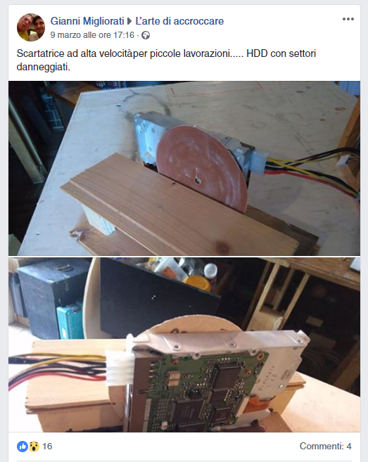 carta vetrata e HDD
