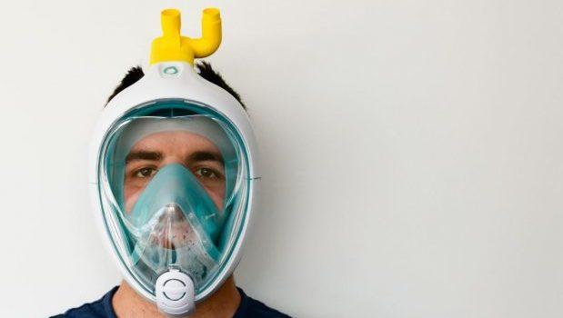 Coronavirus maschera snorkeling Isinnova